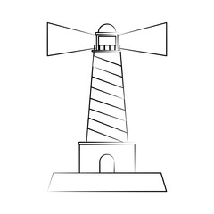 Lighthouse beach symbol icon vector illustration graphic design