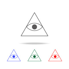 pyramid eye icon. Elements in multi colored icons for mobile concept and web apps. Icons for website design and development, app development
