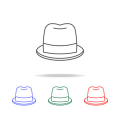 hat icon. Elements in multi colored icons for mobile concept and web apps. Icons for website design and development, app development