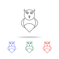 owl icon. Elements in multi colored icons for mobile concept and web apps. Icons for website design and development, app development