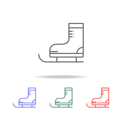 skates icon. Elements in multi colored icons for mobile concept and web apps. Icons for website design and development, app development