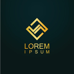 gold square logo
