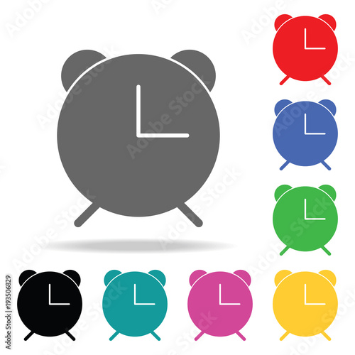alarm clock icon  Elements in multi colored icons for mobile concept