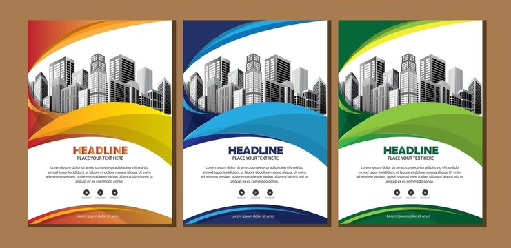 design cover book brochure flyer layout annual report business template