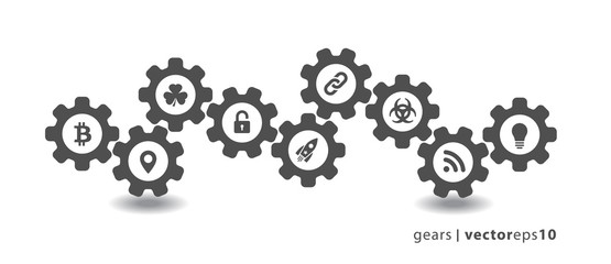 Gear Icons - Set 1