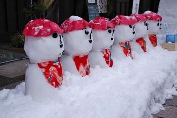 日本の雪だるま