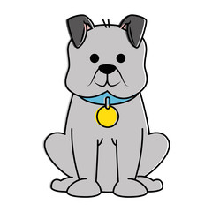 cute dog mascot character vector illustration design