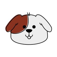 cute dog mascot head vector illustration design