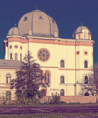 Synagogue is religion landmark of Gyor in Hungary