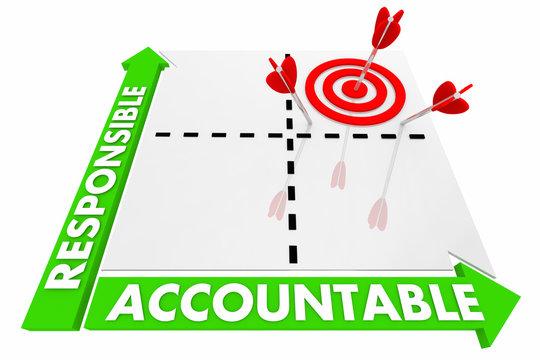 Responsible Accountable Matrix Best Choice 3d Illustration