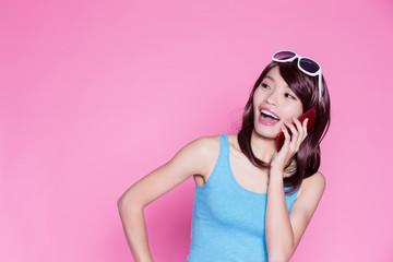 woman talk on phone