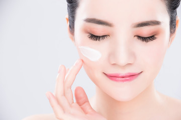 woman beauty skin care concept