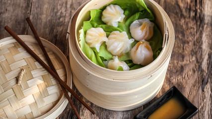 Raviolis aux crevettes à la vapeur : Haa Gaau