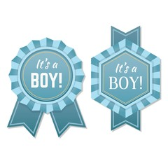 Babyborn boy badge or label.