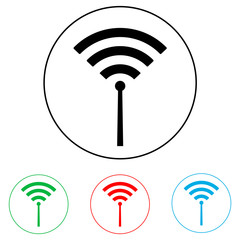 Wi fi logo, radio waves logo