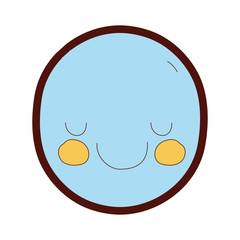 line color kawaii cute happy face expression