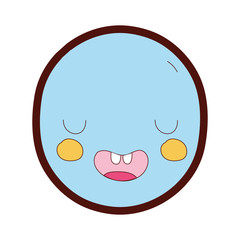 line color kawaii cute funny face expression
