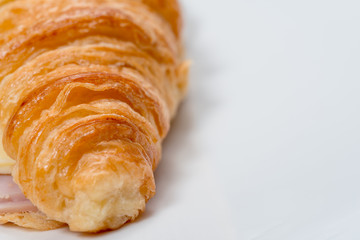 croissant ham and cheese