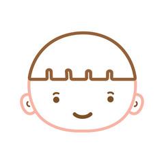 color line avatar boy head with hair