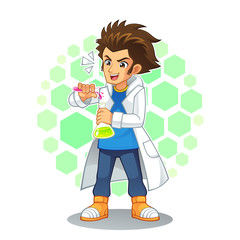 Cool Scientist Mascot Character