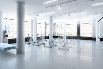 Ergometer im Fitness-Zentrum (Gestaltung)
