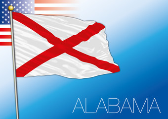 Alabama federal state flag, United States