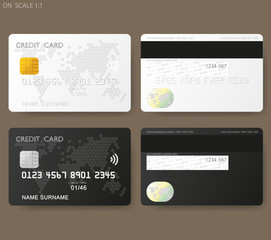set of credit card