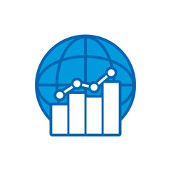 Stats World Logo Icon Design