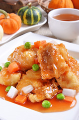 Delicious Chinese food - sweet and sour fish  fillet