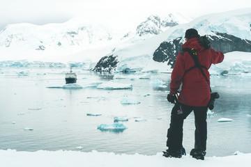 Photograper enjoying the Panorama - Antarctica