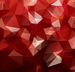 Vector Polygon Abstract modern Polygonal Geometric Triangle Background. red light color.