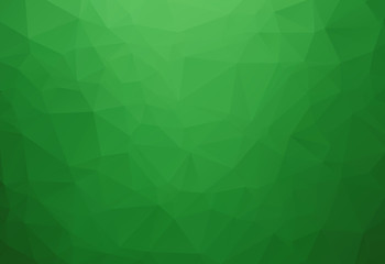 Vector Polygon Abstract modern Polygonal Geometric Triangle Background. Green light color.