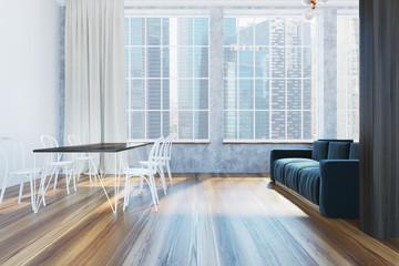 Luxury Scandinavian style living room, side