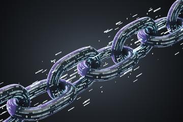 Black diagonal chain, a blockchain concept