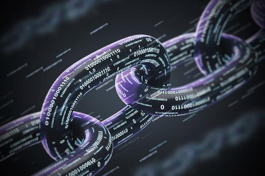 Black diagonal chain, a blockchain concept, double