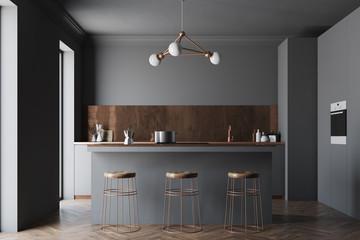 Black and bronze kitchen