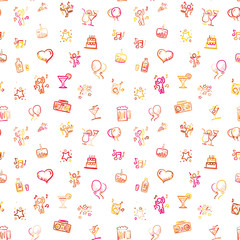 Party doodles, seamless wallpaper design