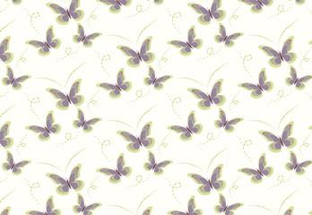 vector drawing butterflies pattern..