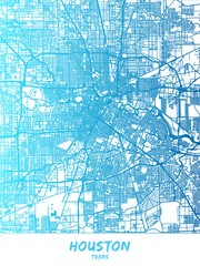 Houston, Texas - Map Poster Design