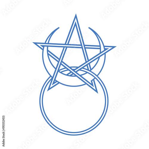 Vector Symbol For Wiccan Community Horned God Sign Modern