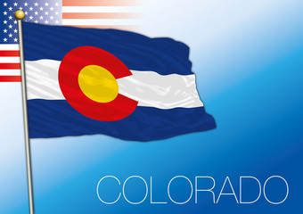 Colorado federal state flag, United States