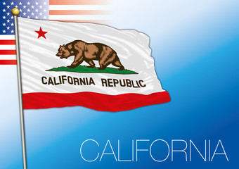 California federal state flag, United States
