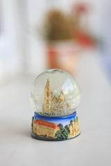 Decorative snowglobe, trip souvenir