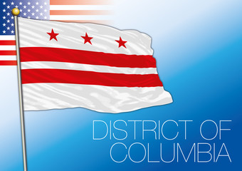 District of Columbia federal state flag, United States