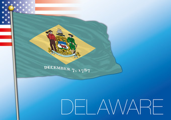 Delaware federal state flag, United States