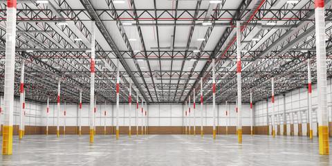 Wall Mural - Empty modern warehouse. 3d illustration
