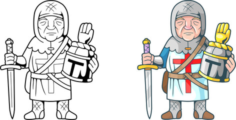 cartoon funny crusader, coloring book