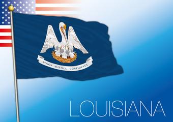 Louisiana federal state flag, United States