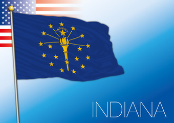 Indiana federal state flag, United States