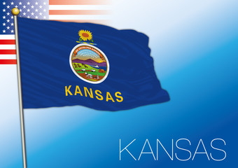 Kansas federal state flag, United States